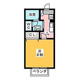 静岡県浜松市中区和合北2の賃貸アパートの間取り