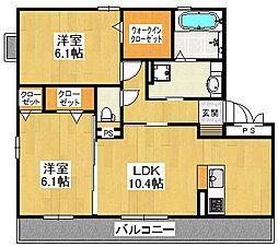 ボアソルテSA棟[2階]の間取り