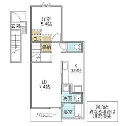 木村ロイヤルマンション VI[204号室号室]の間取り