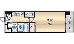 大阪府大阪市浪速区浪速西1丁目の賃貸マンションの間取り
