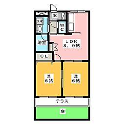 ロイヤルスクエアB[1階]の間取り