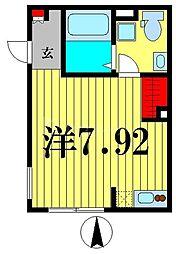 東京メトロ半蔵門線 住吉駅 徒歩5分の賃貸マンション 1階ワンルームの間取り