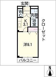 ネオ・コスモ加木屋A[2階]の間取り