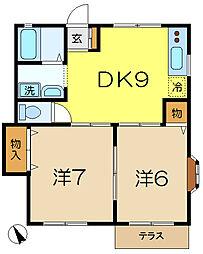 フォレストビュー[1階]の間取り