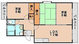 プラム惣利[2階]の間取り