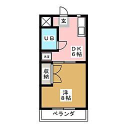 サンスクエア[1階]の間取り