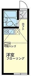 神奈川県横浜市神奈川区子安通3丁目の賃貸アパートの間取り