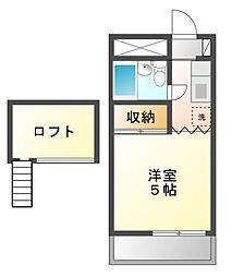 カーサフロール津田沼[2階]の間取り