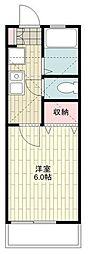 JR東海道本線 戸塚駅 バス15分 集会所前下車 徒歩8分の賃貸アパート 1階1Kの間取り