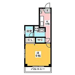 永田ハイツ[3階]の間取り