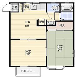 アイビー・ハウス[1階]の間取り