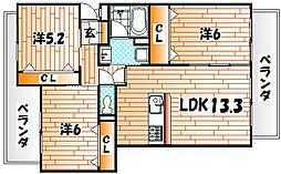 クレールコパン[3階]の間取り