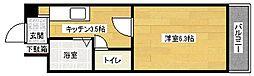 グランドール西原[505号室]の間取り