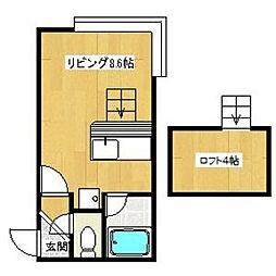 グランステージ南5条[2階]の間取り