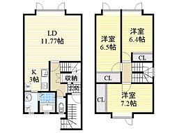 北海道札幌市北区篠路5条9丁目の賃貸アパートの間取り