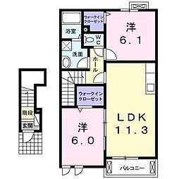 コルソ YK[2階]の間取り