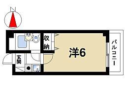 奈良県奈良市三条大路1丁目の賃貸マンションの間取り