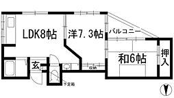 セピア鼓滝[2階]の間取り