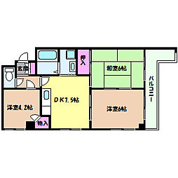兵庫県神戸市灘区水道筋2丁目の賃貸マンションの間取り