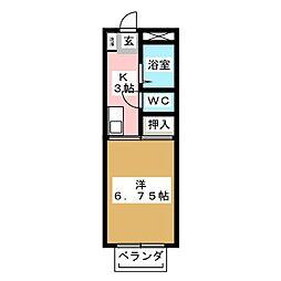 コテージ恵和I[2階]の間取り