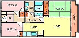 ドミール浜寺[102号室]の間取り