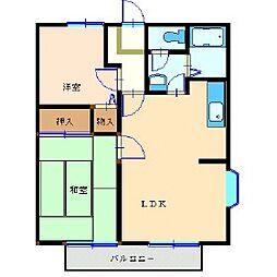 神奈川県横浜市泉区西が岡1丁目の賃貸アパートの間取り