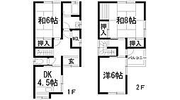 [一戸建] 兵庫県川西市西多田1丁目 の賃貸【/】の間取り