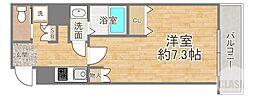 京阪本線 天満橋駅 徒歩7分の賃貸マンション 3階1Kの間取り