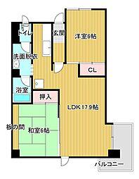 蜆塚コーポ[5階]の間取り