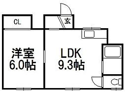今前田アパート[102号室]の間取り