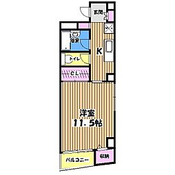 IKコンフォート[5階]の間取り