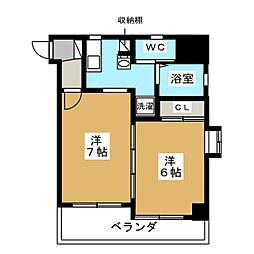 WILL−21烏丸御池[10階]の間取り