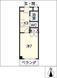 シーズンコート岩塚西[4階]の間取り
