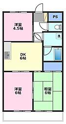 セザール坂戸第二[2階]の間取り