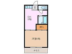 三重県鈴鹿市平野町の賃貸アパートの間取り