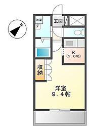 埼玉県鴻巣市明用の賃貸アパートの間取り