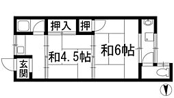 杉林文化[2階]の間取り