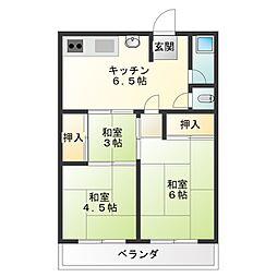 藤井ビル[2階]の間取り
