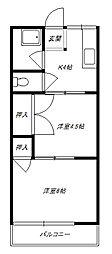 シティハイムナガドオリ[1階]の間取り