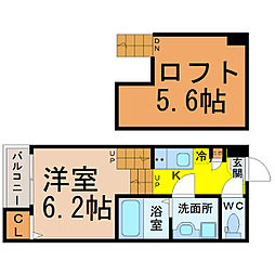 キララハイツ[2階]の間取り