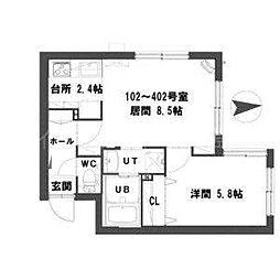 北海道札幌市豊平区平岸一条8丁目の賃貸マンションの間取り