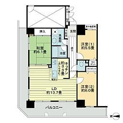 ライオンズタワー仙台長町[21階]の間取り