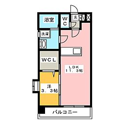 メゾン・ド・ラヴィス[5階]の間取り