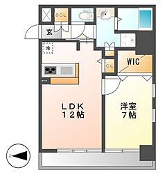 FIRST RESIDENCE SAKAE[4階]の間取り