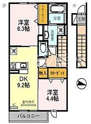 エクレール福井[2088号室]の間取り