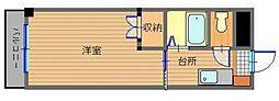 JR長崎本線 道ノ尾駅 徒歩9分の賃貸マンション 3階1Kの間取り