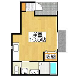 クレッセント桃山[1階]の間取り