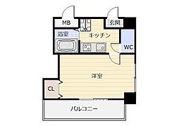 福岡県北九州市小倉北区木町4丁目の賃貸マンションの間取り