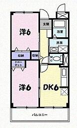 エクセランヴィラ[1階]の間取り