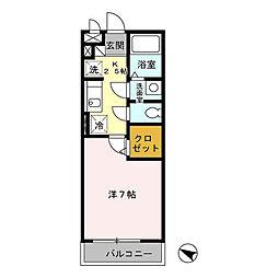 パピヨン南大沢[3階]の間取り